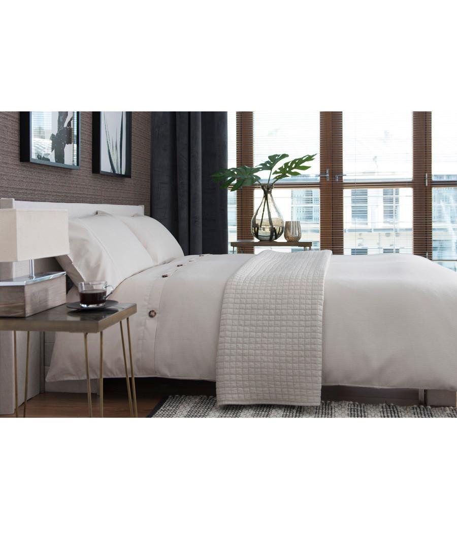 Bruges white cotton single duvet set Sale - lyndon