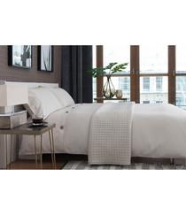 Bruges white cotton single duvet set
