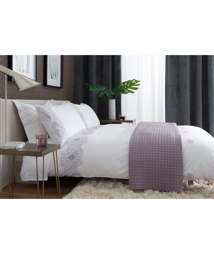 Raspberry cotton king duvet set Sale - lyndon
