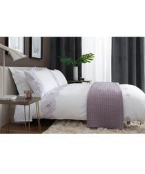Raspberry cotton single duvet set