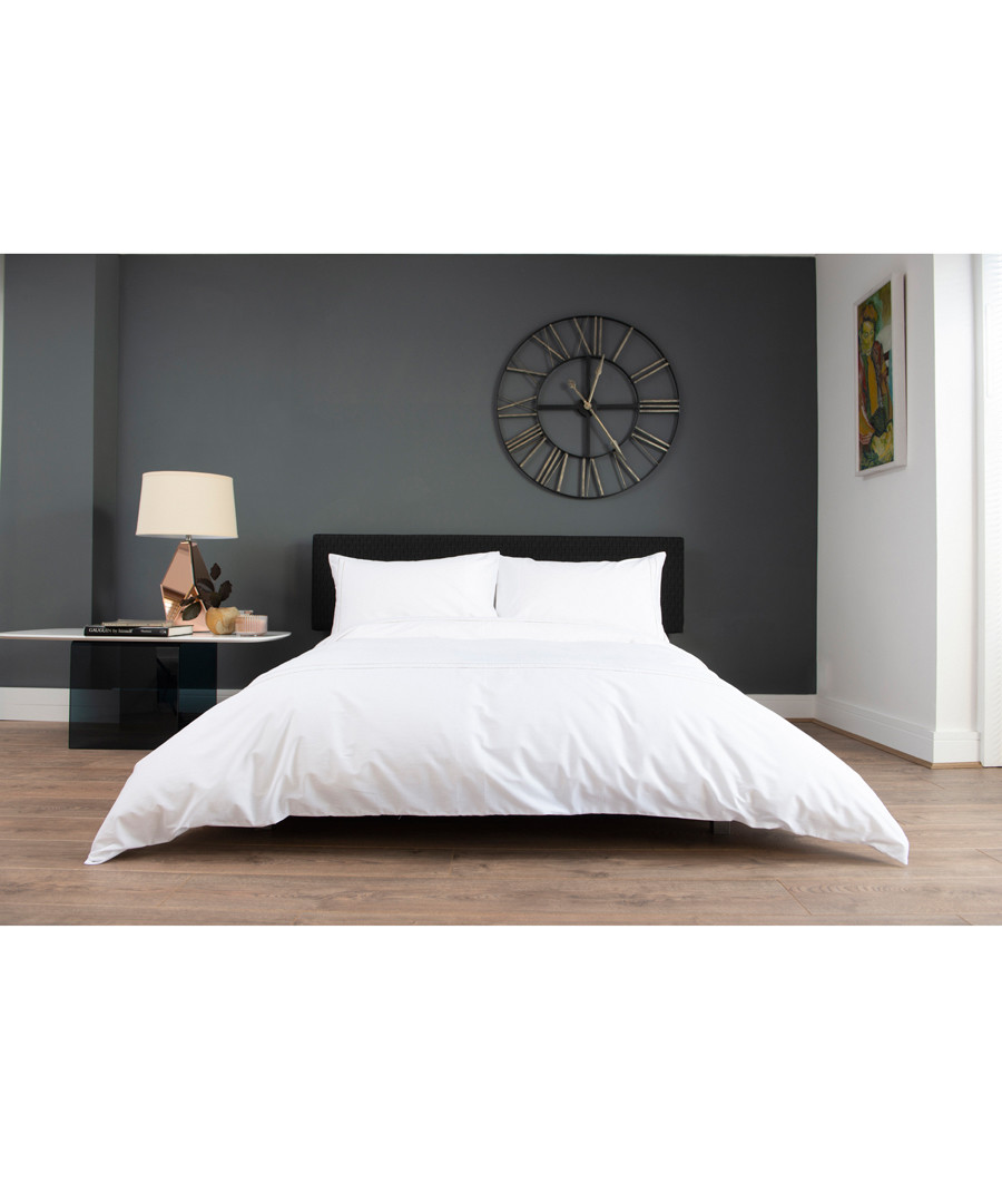 Florence white cotton king duvet set Sale - lyndon