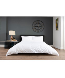 Florence white cotton single duvet set