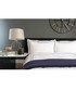 White & navy cotton double duvet set Sale - lyndon Sale