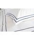 Montpellier white & navy cotton single duvet set Sale - lyndon Sale