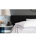 White & navy cotton single duvet set Sale - lyndon Sale
