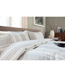 Morocco white cotton double duvet set