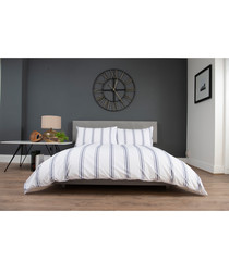 Toulouse white cotton single duvet set