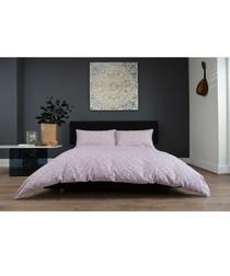 William pink cotton double duvet set