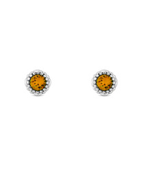 November 14ct white gold-plated studs