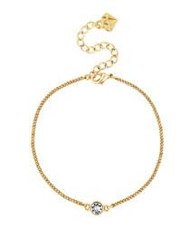 14ct gold-plated crystal bracelet