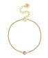 14ct gold-plated crystal bracelet Sale - diamond style Sale