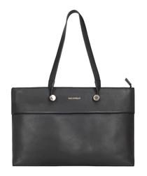 The Eddy black leather shoulder bag