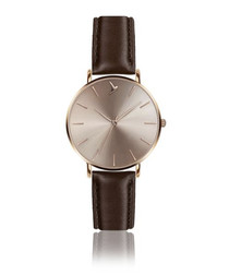 Sunray Brown Leather watch