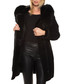 Women's Shay black shearling coat Sale - john & yoko Sale