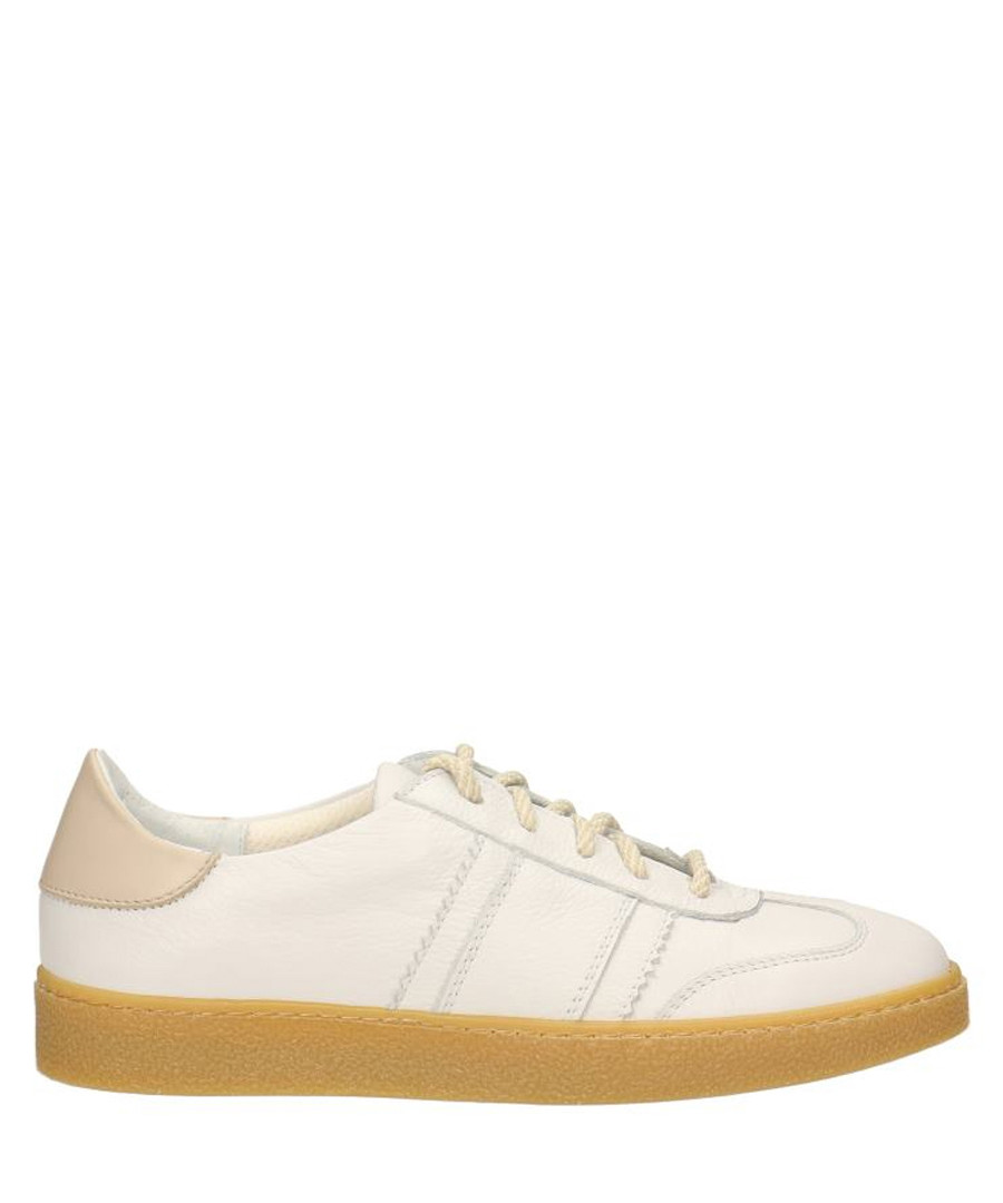Cream leather sneakers Sale - gino rossi