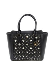 Black embellished grab bag