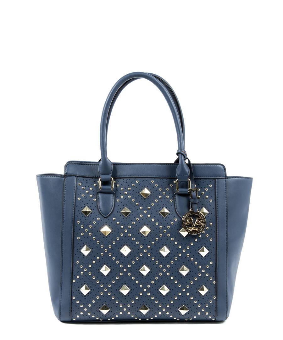 Blue embellished grab bag Sale - v italia by versace 1969 abbigliamento sportivo srl milano italia