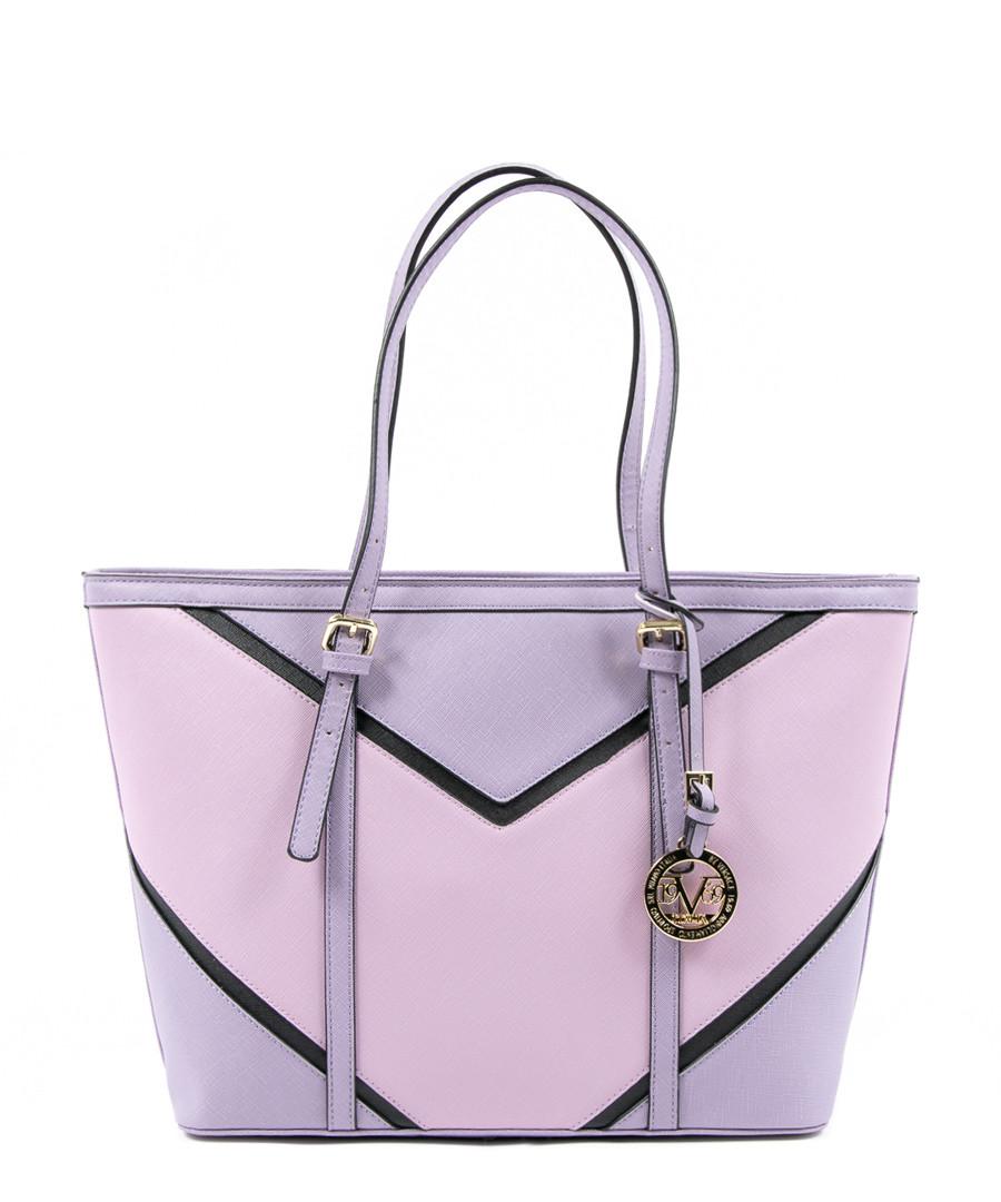 Purple & black chevron shopper bag Sale - V ITALIA BY VERSACE 1969 ABBIGLIAMENTO SPORTIVO SRL MILANO ITALIA