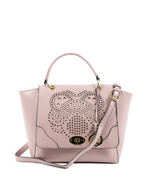Light purple perforated shopper bag