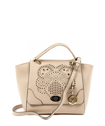 Sand perforated shopper bag