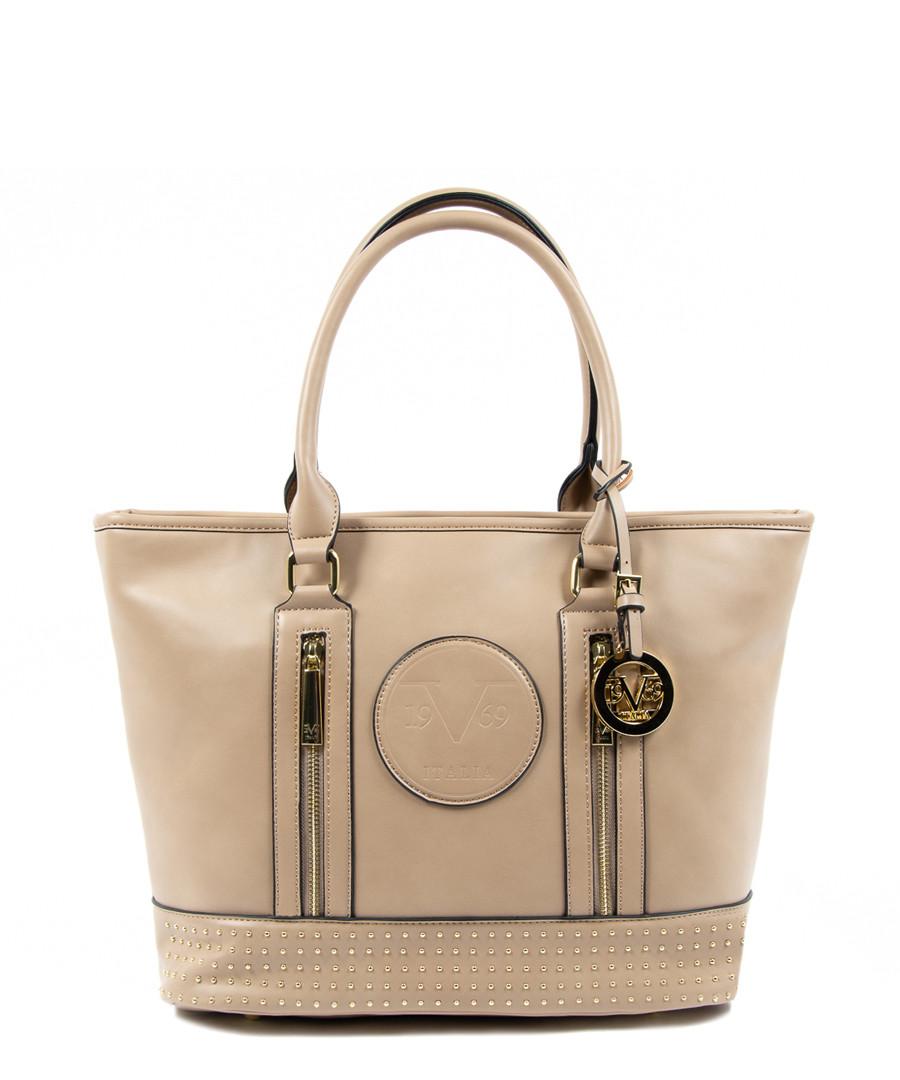 Tan studded shopper bag Sale - V ITALIA BY VERSACE 1969 ABBIGLIAMENTO SPORTIVO SRL MILANO ITALIA