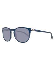 Blue rounded sunglasses