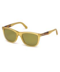 Yellow squared sunglasses