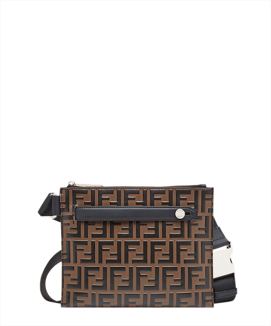 Brown leather logo waist bag Sale - fendi
