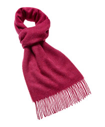 Bright pink merino scarf