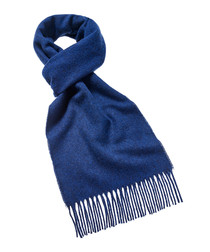 Mid blue merino scarf