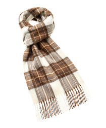 Dress Stewart cream merino scarf