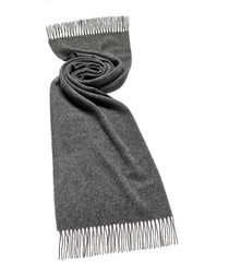 Grey merino lambswool scarf