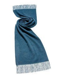 Teal merino lambswool scarf