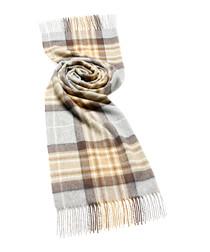 McKeller beige merino check scarf