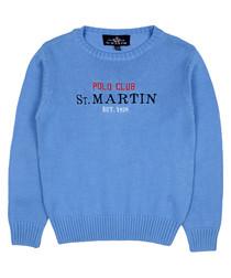 Boys' Light blue pure cotton jumper