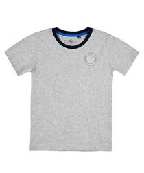Boys' Grey pure cotton logo T-shirt
