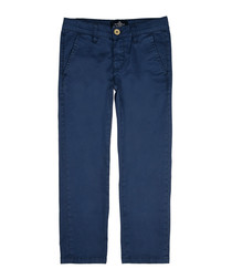 Boys' blue cotton trousers
