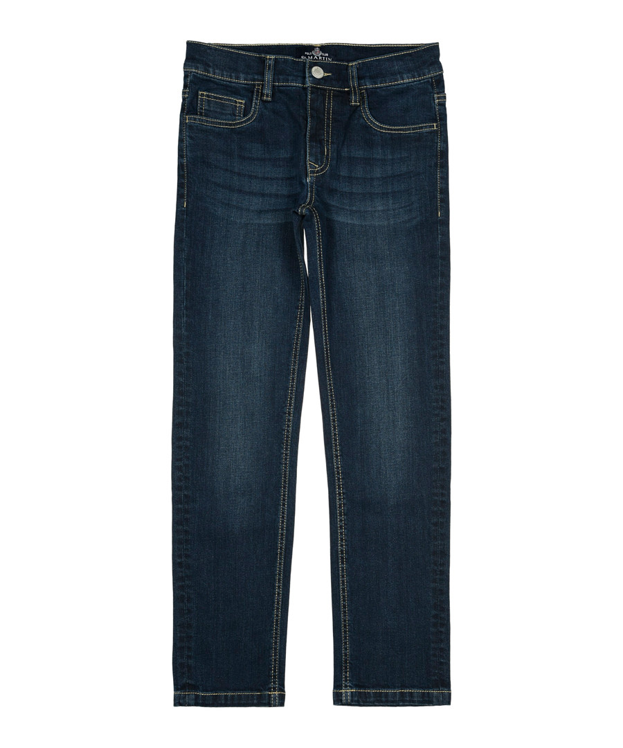 Boys' blue cotton jeans Sale - polo club st. martin