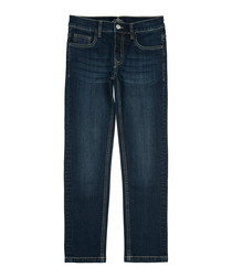 Boys' blue cotton jeans