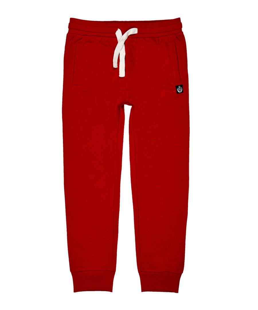 Boys' red cotton blend joggers Sale - polo club st. martin