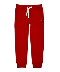 Boys' red cotton blend joggers