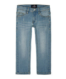 Boys' light blue cotton jeans