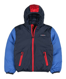 Boys' blue & navy hooded coat