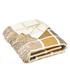 Multiblock mustard lambswool throw Sale - bronte Sale