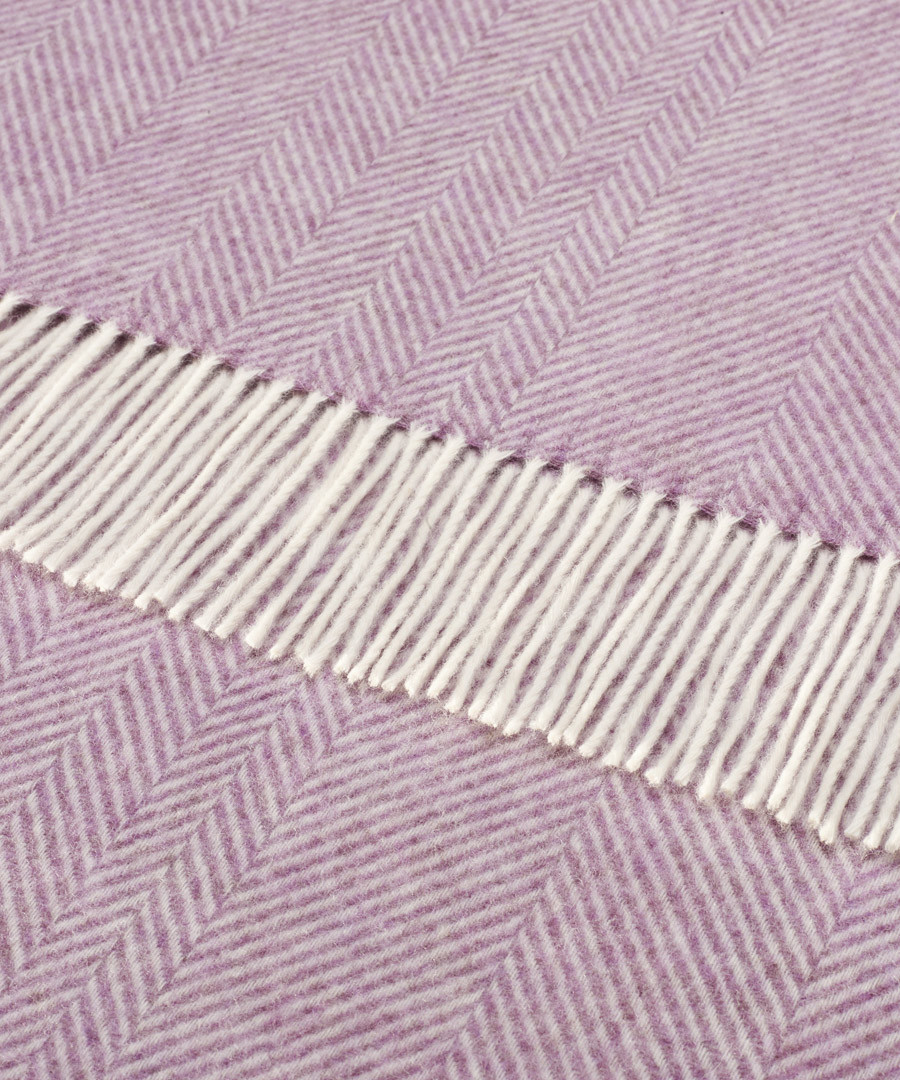 Lilac lambswool feather filled cushion Sale - Bronte