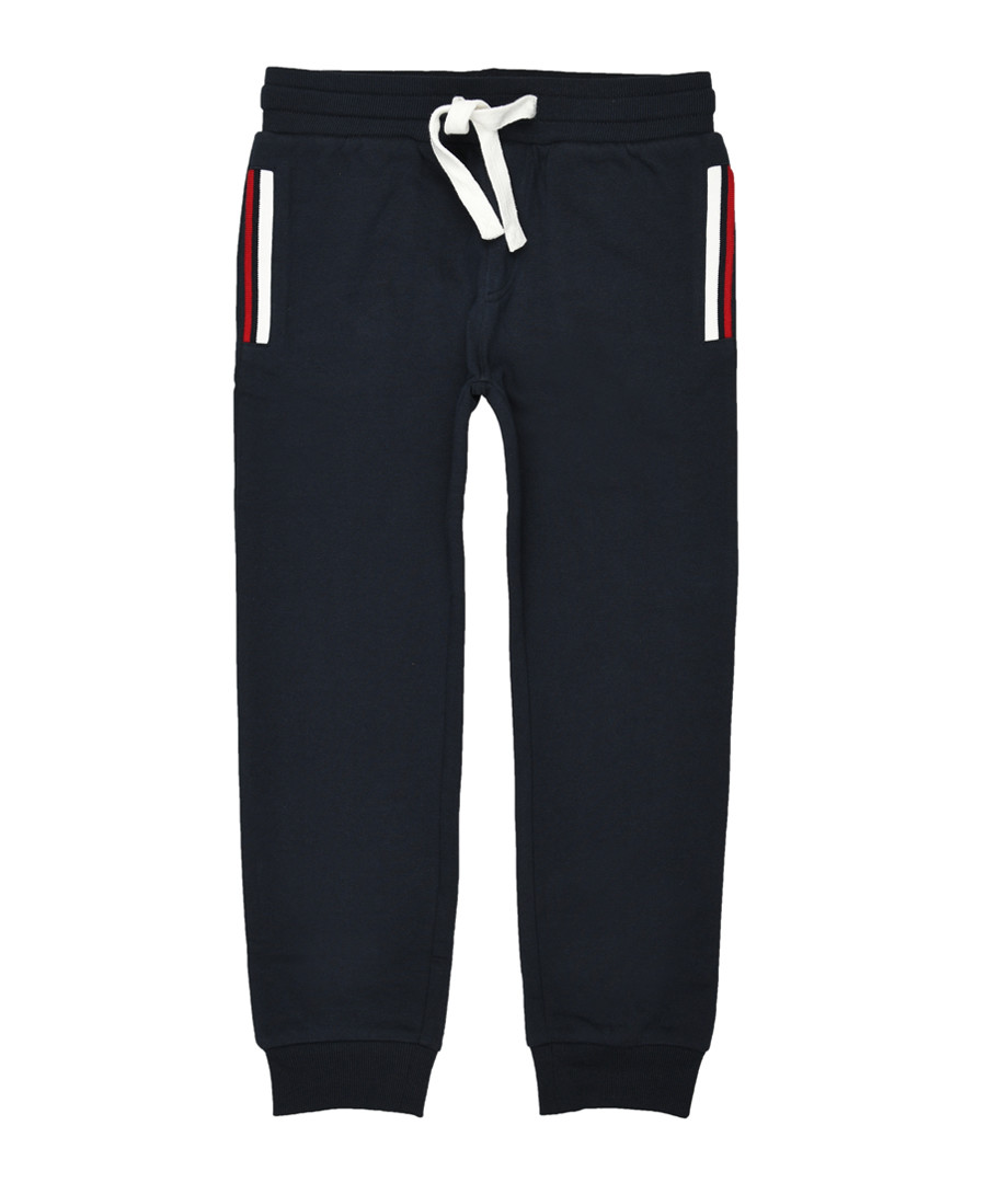Boys' navy cotton blend joggers Sale - Polo Club St.Martin