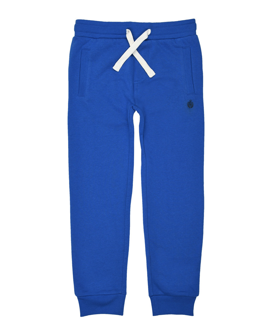 Boys' blue cotton blend joggers Sale - polo club st. martin