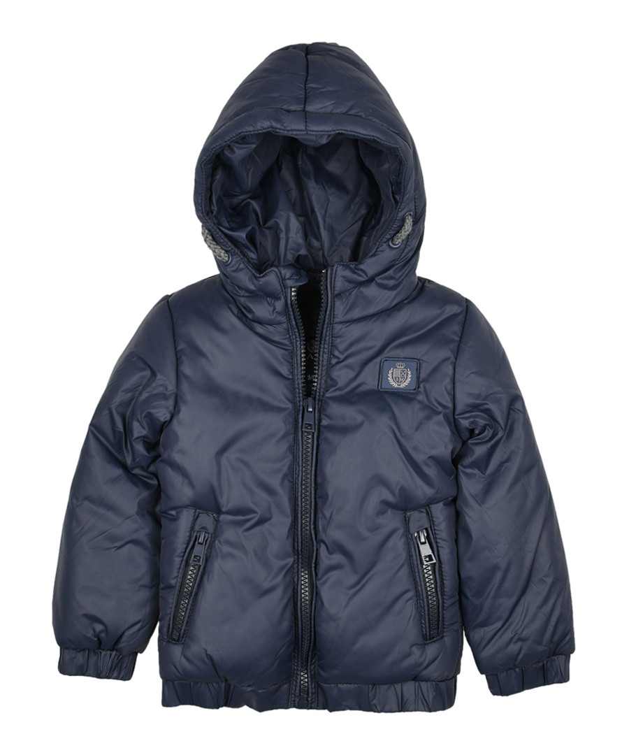 Boys' navy hooded puffer jacket Sale - polo club st. martin