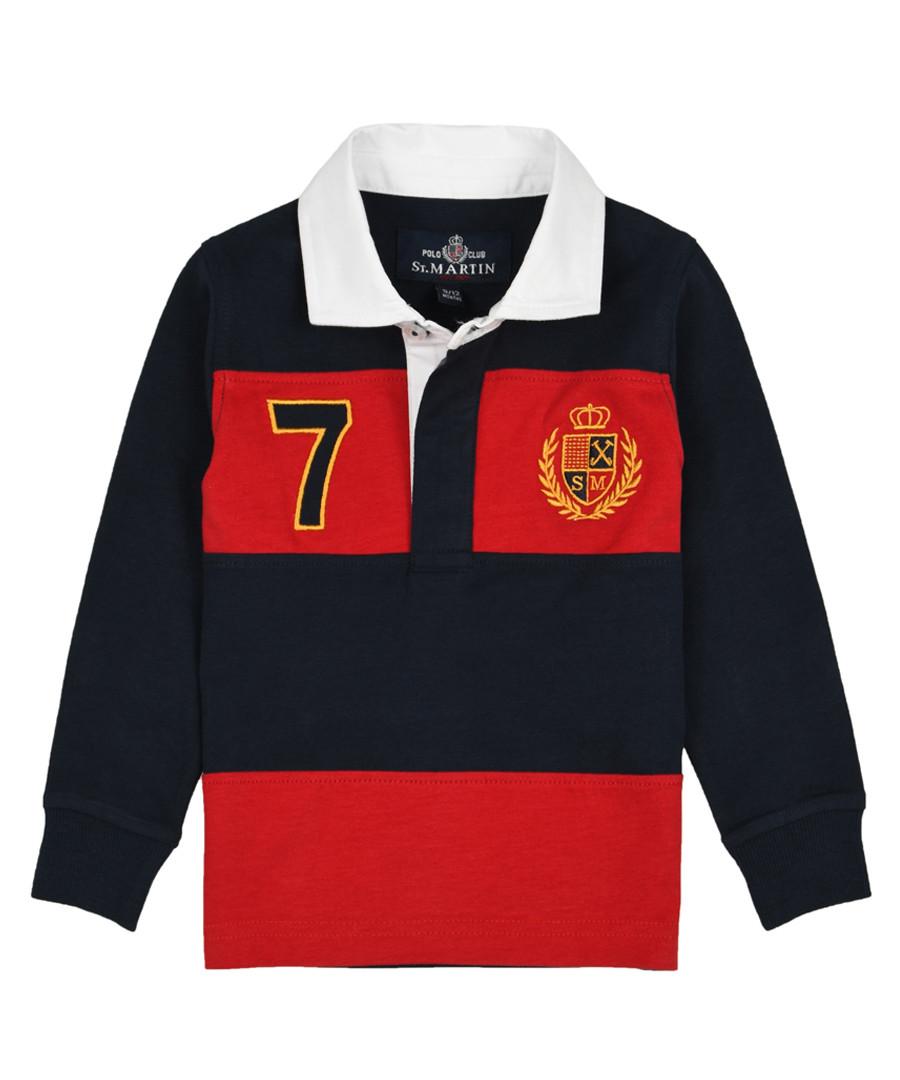 Boys' blue pure cotton long sleeve shirt Sale - polo club st. martin