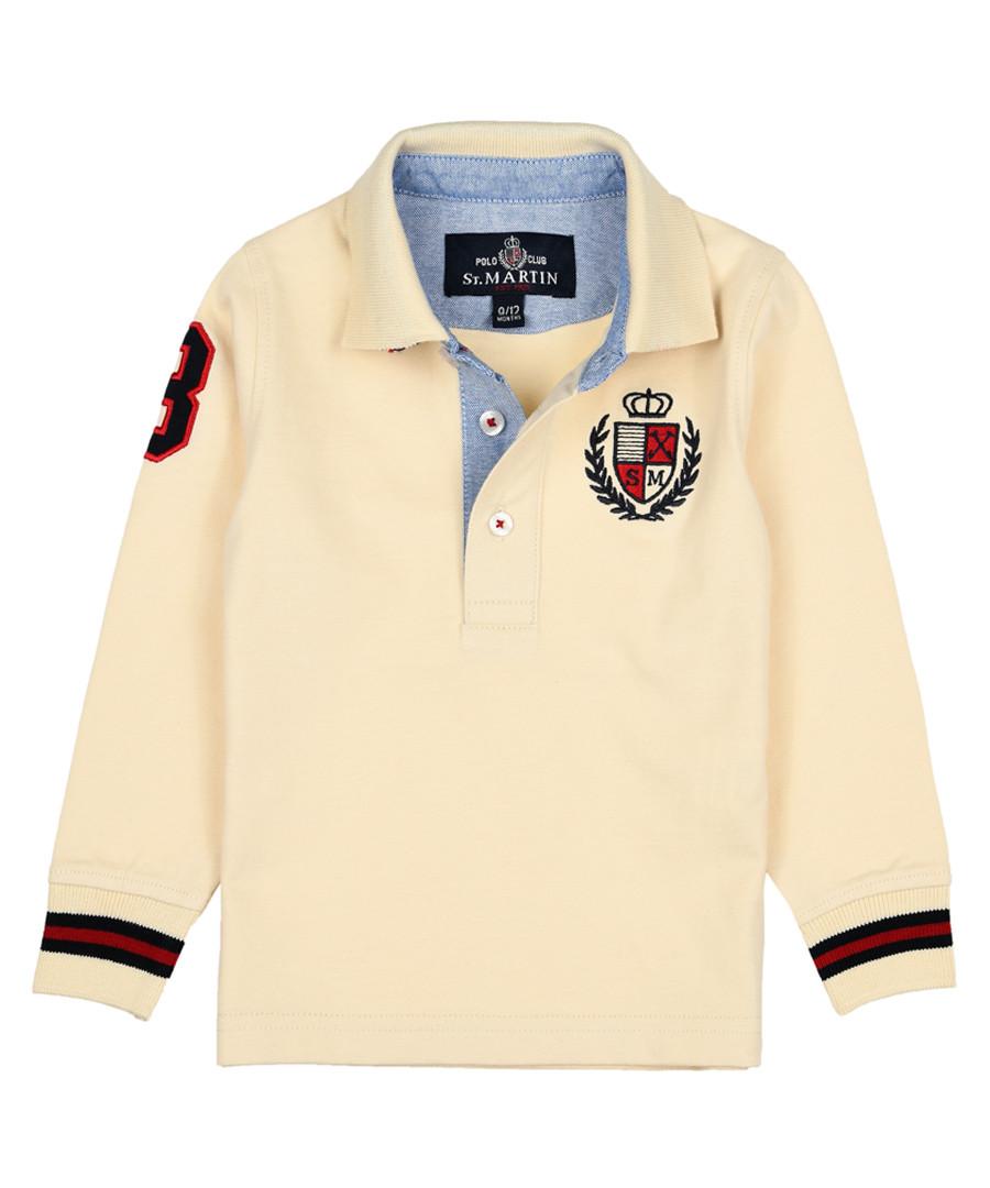 Boys' milk pure cotton long sleeve shirt Sale - polo club st. martin